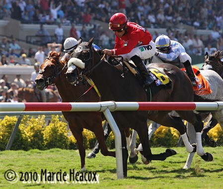 Enriched wins the Del Mar Mile